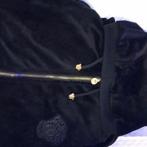 Versace Velour Track Suit Black